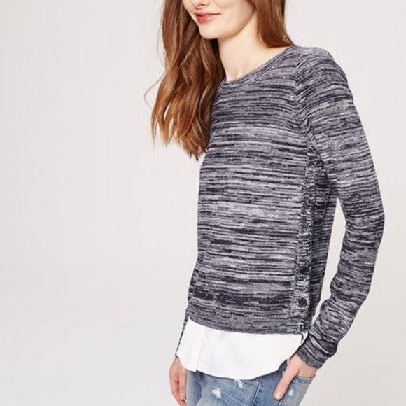 f54677cec9f LOFT Sweaters - Loft 2 in 1 Marled Grey Sweater